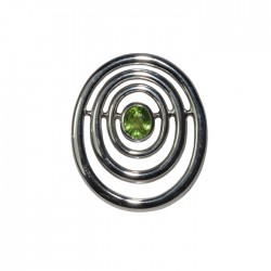 concentric oval set peridot