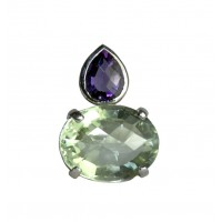 Purple & green amethyst pendant